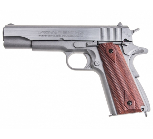 Пневматический пистолет Swiss Arms SA1911 Seventies Stainless Pistol   (аналог кольта 1911)
